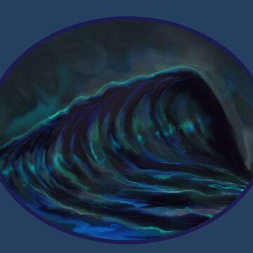 NIGHT SURFING by TwistyTee