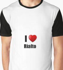 Rialto I Love City Lover Pride Funny Gift Idea Graphic T-Shirt