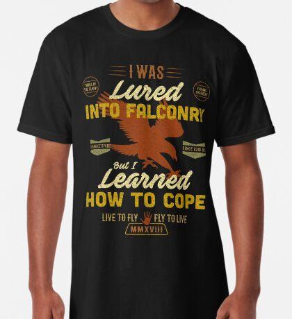 Funny Falconry T-shirt For Funny Falconers Who Love falconry  Long T-Shirt