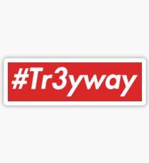 supreme Tr3yway sticker Sticker