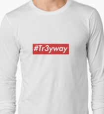 supreme Tr3yway sticker Long Sleeve T-Shirt
