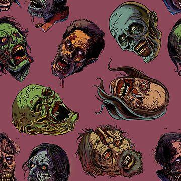 Zombies TWD pattern 2 by rubenlopezart