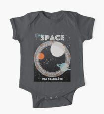 Body de manga corta para bebé Explorar el espacio