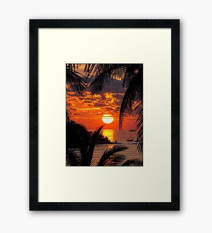 Sunset at Kandooma Island Framed Print