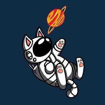 Space Cat Catstronaut by noellelucia