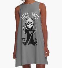 Halloween Hug Me Grim Reaper A-Line Dress