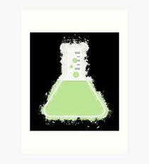 Flask beaker glowing Art Art Print