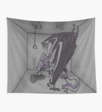 Shackled Shadow Dragon Wall Tapestry