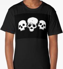 3 Skull Long T-Shirt
