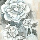 Full Bloom a floral Mixed Media Painting  by JourneyHomeMade