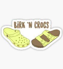 Birk 'n Crocs Sticker