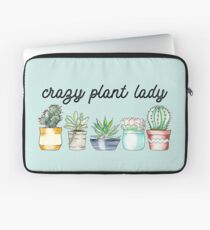 Crazy Plant Lady on mint Laptop Sleeve
