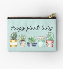 Crazy Plant Lady on mint Studio Pouch
