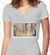 French Future Roomba Women's Fitted V-Neck T-Shirt