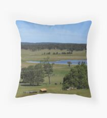 Hunter Valley Farmlands Throw Pillow