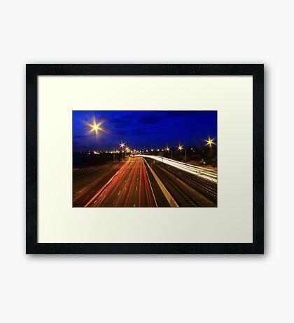 Kwinana Freeway At Dusk  Framed Print