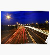 Kwinana Freeway At Dusk  Poster