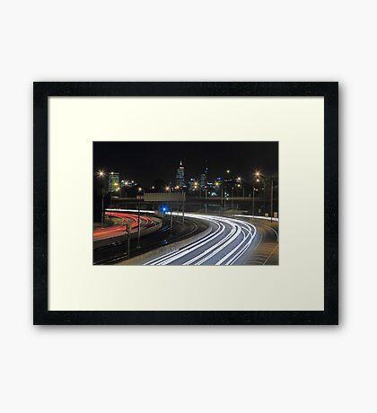 Perth City Traffic  Framed Print