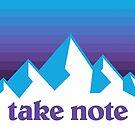 Take Note mountains 90s by SaturdayAC