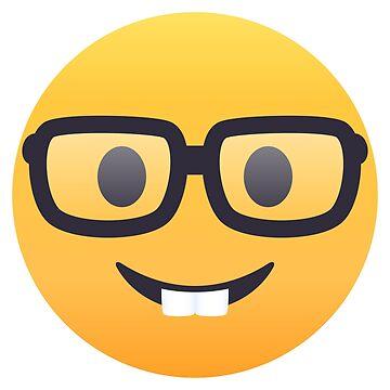 Nerd Face Emoji by joypixels