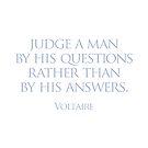 Judge a man by Randy Coffey