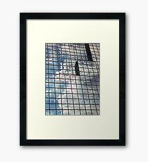 windows in blue Framed Print