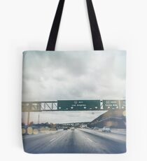 Los Angeles Road Sign California Tote Bag