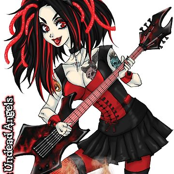 Undead Angels: Vampire Guitarist by EnforcerDesigns