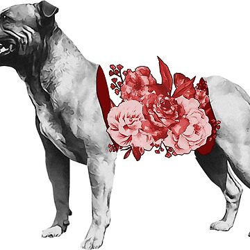 Flower Staffordshire Bull Terrier by hangmoon98