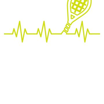 Tennis Racquet Heartbeat by rockpapershirts