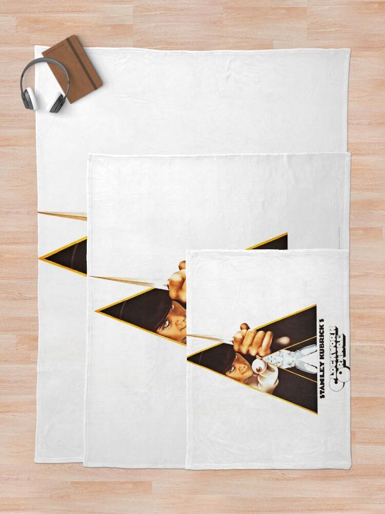 Alternate view of Vintage 1971 A Clockwork Orange, Posters, Movie, Retro Throw Blanket