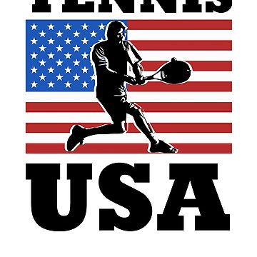 Tennis USA American Flag by rockpapershirts