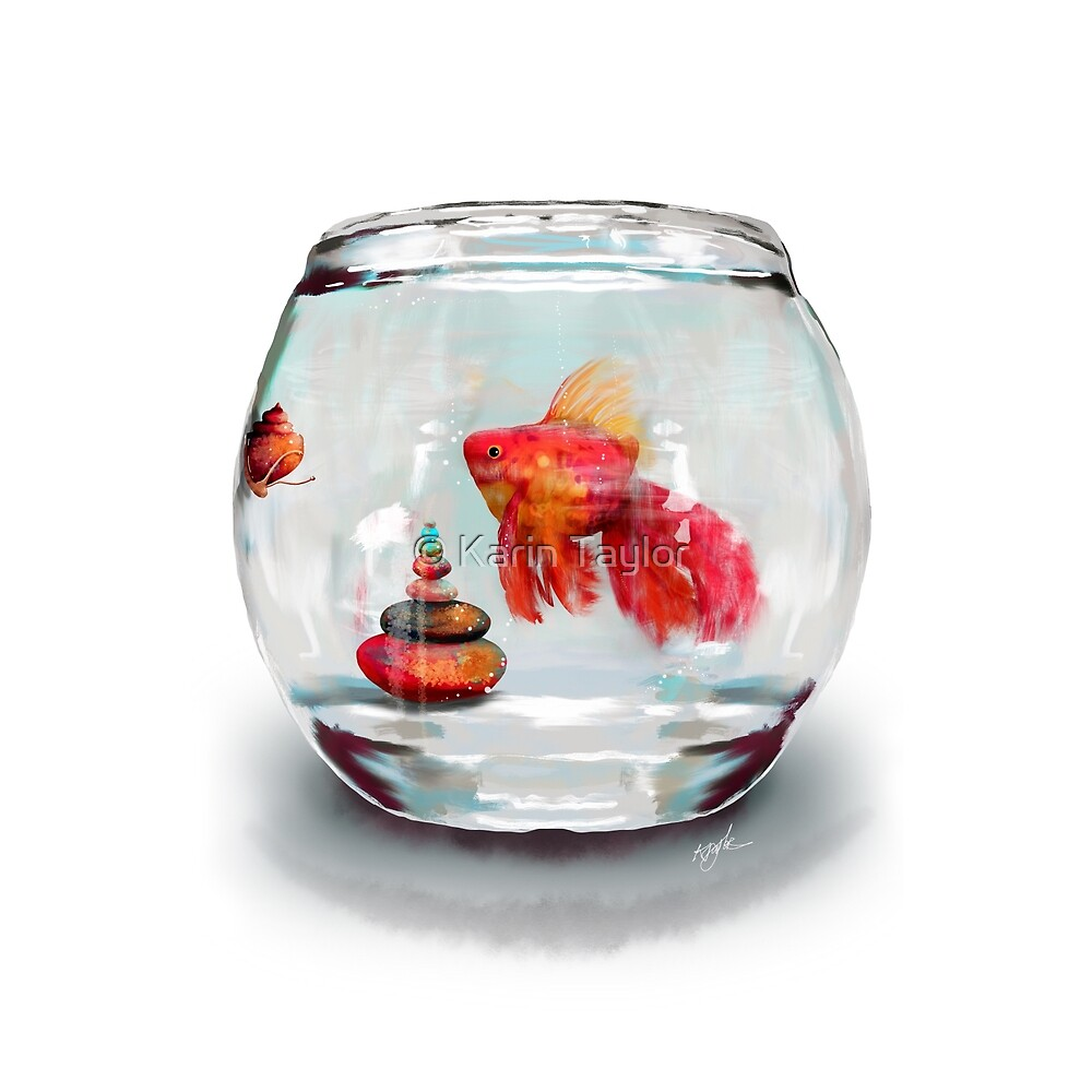 Goldfish Zen by Karin Taylor