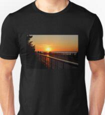 Sunset on the Sunken Meadow Boardwalk T-Shirt