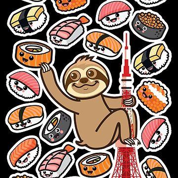 Sloth Sushi Tokyo by plushism