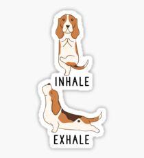 Inhale Exhale Basset Hound Yoga Sticker