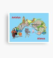 Antalya, oranges and films Canvas Print