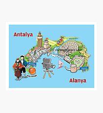 Antalya, oranges and films Photographic Print