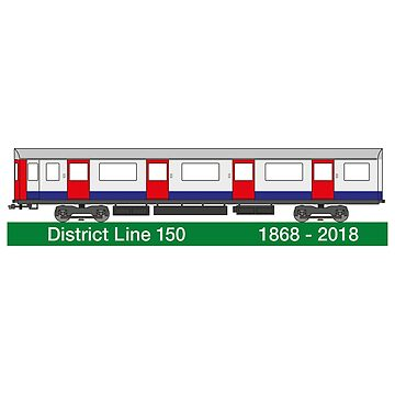 District Line 150 Anniversary London Underground by Kirwindesign