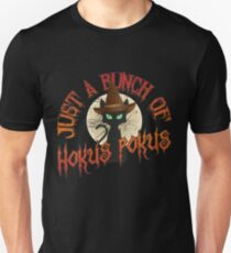 Just A Bunch Of Hokus Pokus Halloween Cat - Funny Halloween Gift Slim Fit T-Shirt