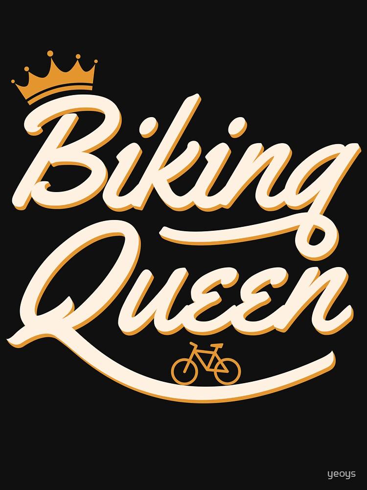 Biking Queen Biking Couple - Funny Cycling  Gift von yeoys