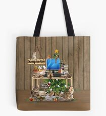 Cat Lovers Working From Home. Tote Bag