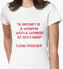 Leon Trostky peace quote Women's Fitted T-Shirt