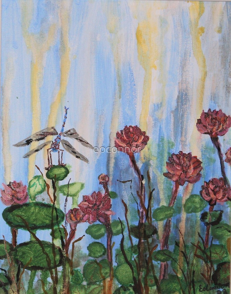 Dragon Fly Heaven 8x10 acrylic on canvas by eoconnor