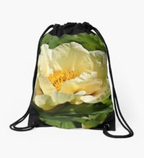 Yellow tree peony  Drawstring Bag