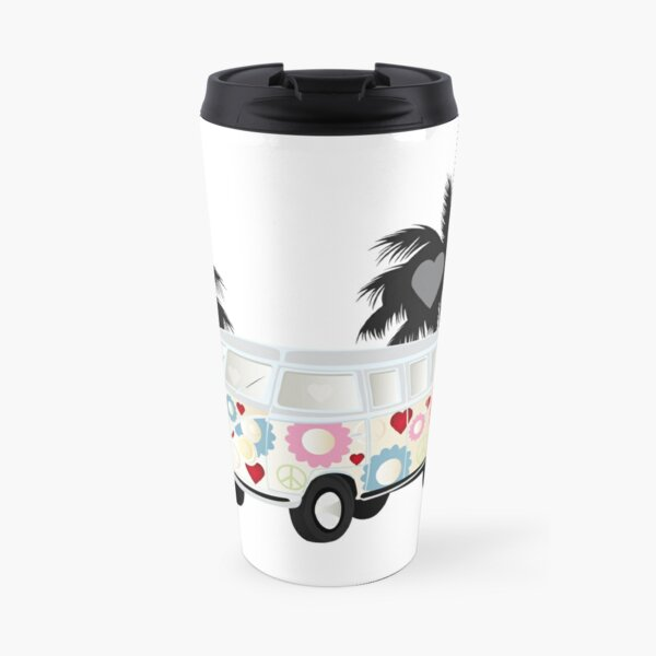 Cut-out of Splitty with palms Travel Mug