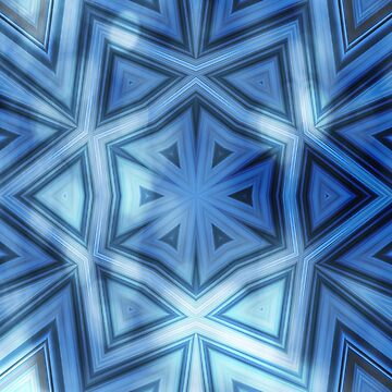 Blue striped kaleidoscope with bokeh by hereswendy