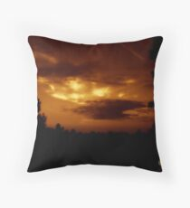 Lighted Skies in Sepia Throw Pillow