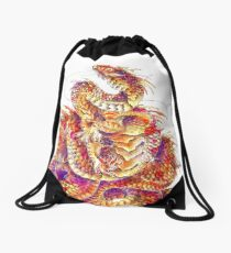 Red Curls  Drawstring Bag
