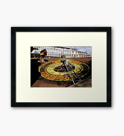 Edinburgh's floral clock. Framed Print